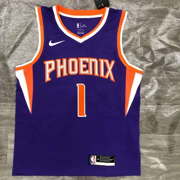 Phoenix Suns 20/21 Purple #1 BOOKER Basketball Jersey (Hot Press)