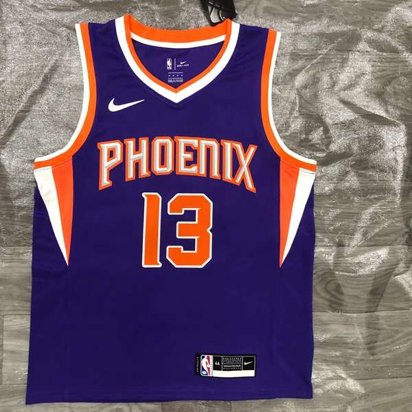 Phoenix Suns 20/21 Purple #13 NASH Basketball Jersey (Hot Press)