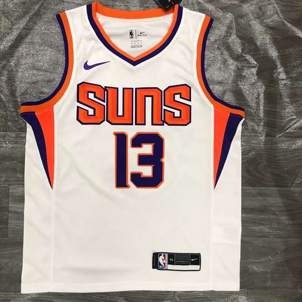 Phoenix Suns 2020 White #13 NASH Basketball Jersey (Hot Press)
