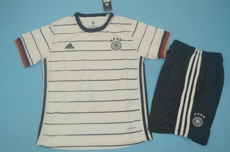 Kids Germany 2020 EURO Home Soccer Jersey And Shorts