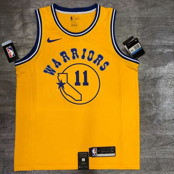 Golden State Warriors 20/21 Yellow #11 THOMPSON Sock Jersey (Hot Press)