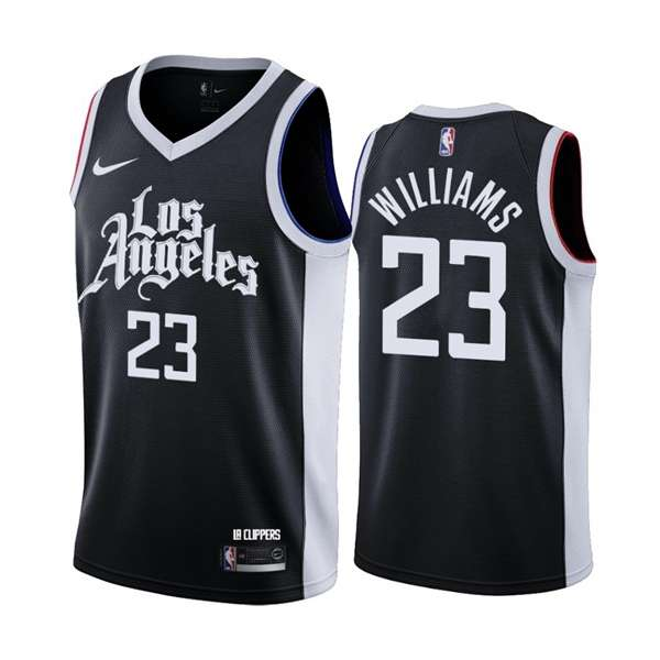 Los Angeles Clippers 20/21 Black #23 WILLIAMS City Jersey