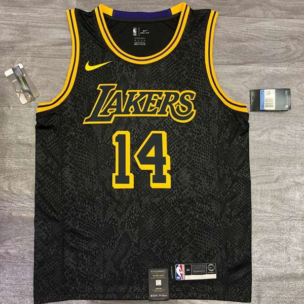 Los Angeles Lakers 2020 Black #14 GREEN Basketball Jersey