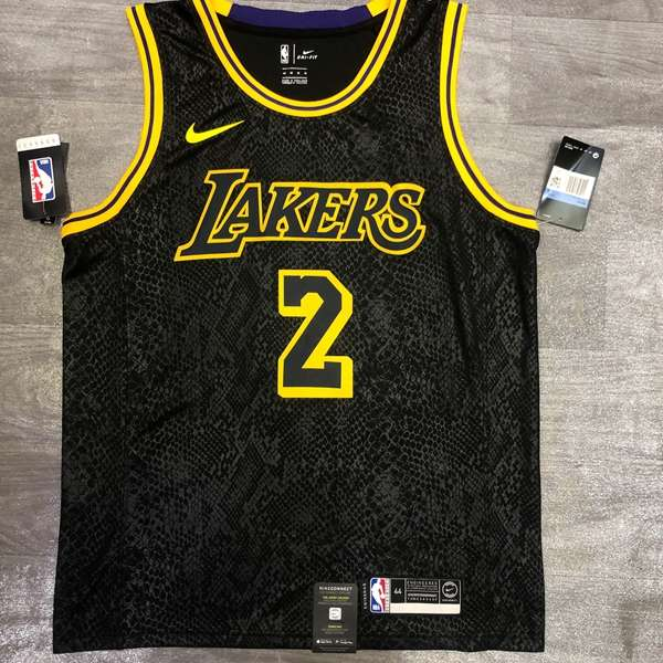 Los Angeles Lakers 2020 Black #2 BALL Basketball Jersey
