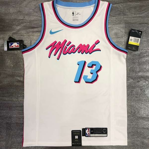 Miami Heat 2020 White #13 ADEBAYO City Basketball Jersey