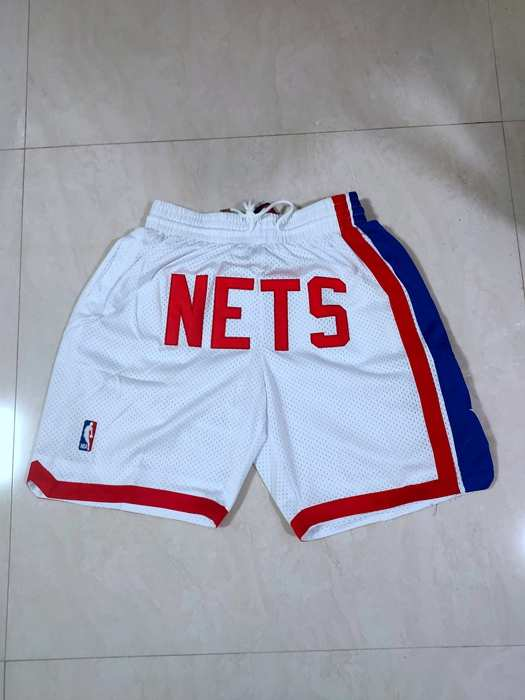 Brooklyn Nets Just Don White NBA Shorts