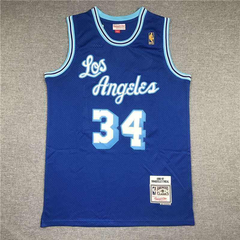 Los Angeles Lakers 1996/97 Blue #34 ONEAL Classics Basketball Jersey (Stitched)