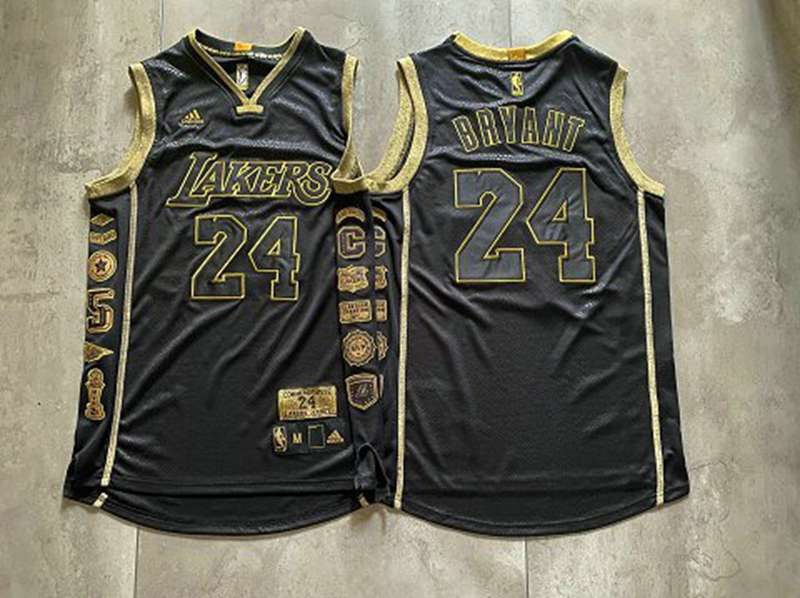 Los Angeles Lakers Black #24 BRYANT Classics Basketball Jersey (Closely Stitched)