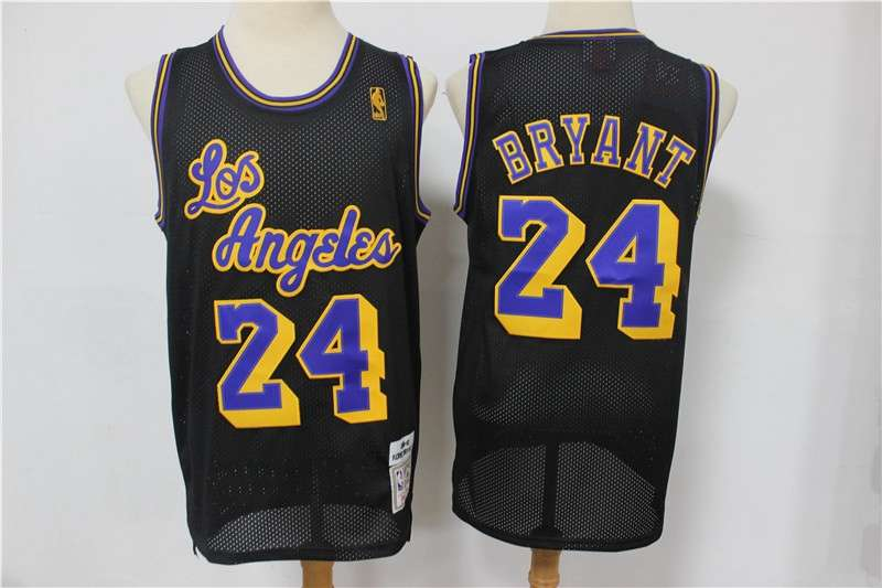 Los Angeles Lakers Black #24 BRYANT Classics Basketball Jersey 02 (Stitched)