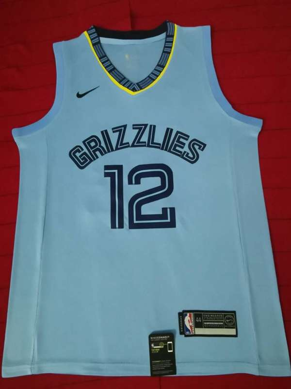 Memphis Grizzlies 2020 Light Blue #12 MORANT Basketball Jersey (Stitched)