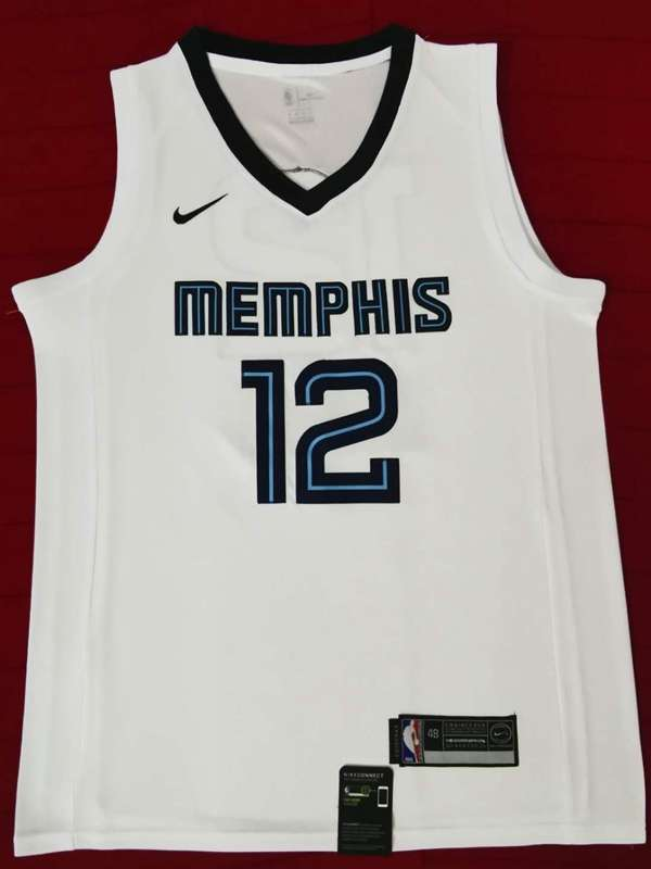 Memphis Grizzlies 2020 White #12 MORANT Basketball Jersey (Stitched)