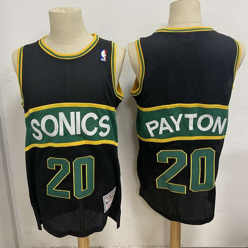 Seattle Sounders Black #20 PAYTON Classics Basketball Jersey (Stitched)