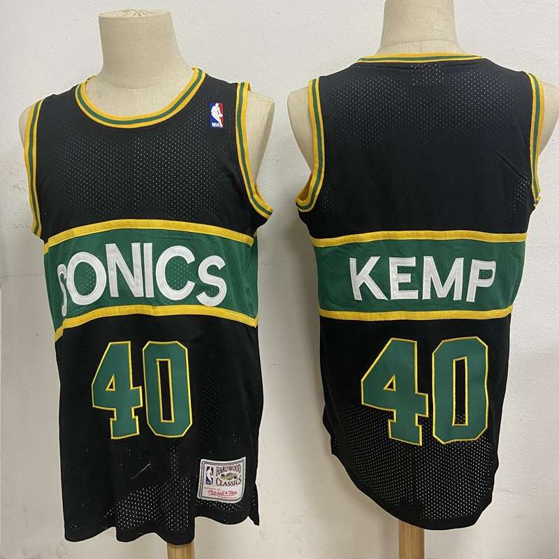 Seattle Sounders Black #40 KEMP Classics Basketball Jersey (Stitched)