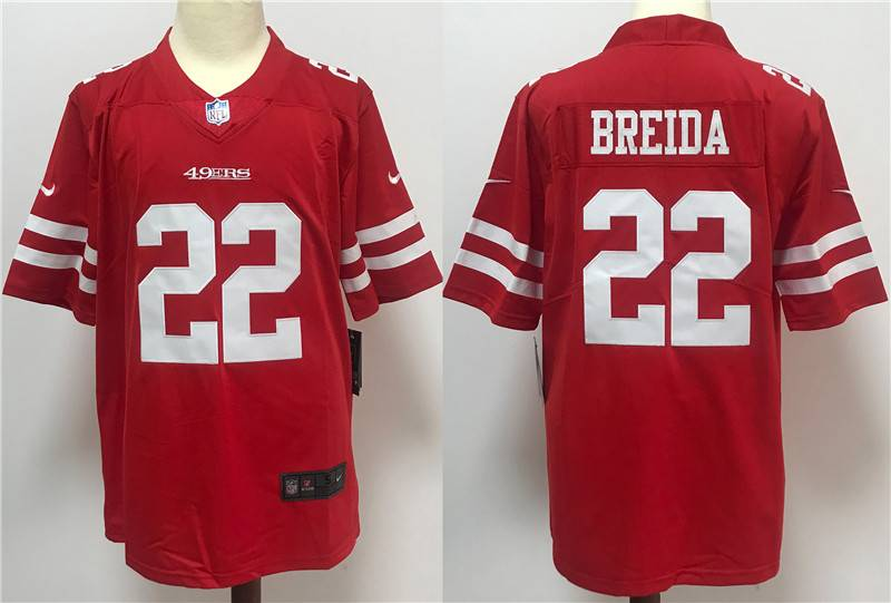 San Francisco 49ers Red #22 BREIDA NFL Jersey