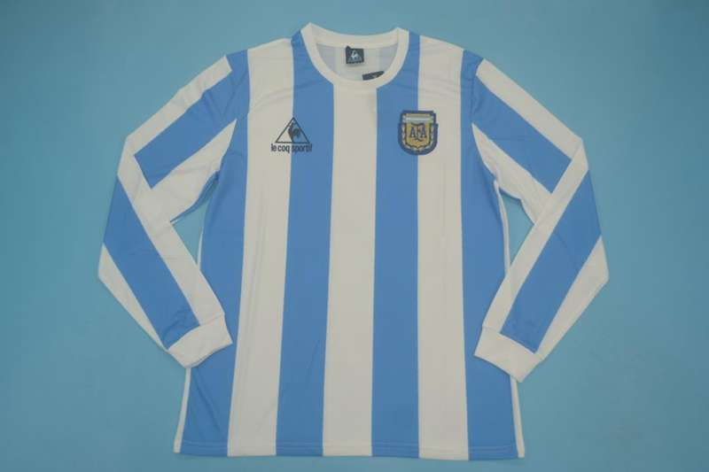 AAA Quality Argentina 1986 Home Retro Long Sleeve Soccer Jersey