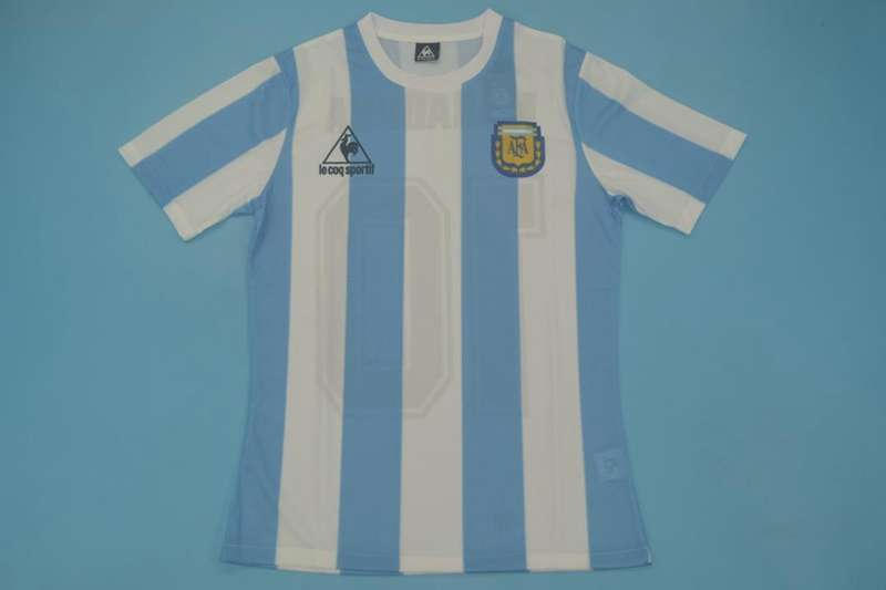 AAA Quality Argentina 1986 Home Retro Soccer Jersey(Player)