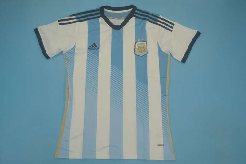 AAA Quality Argentina 2014 Home Retro Soccer Jersey(Player)
