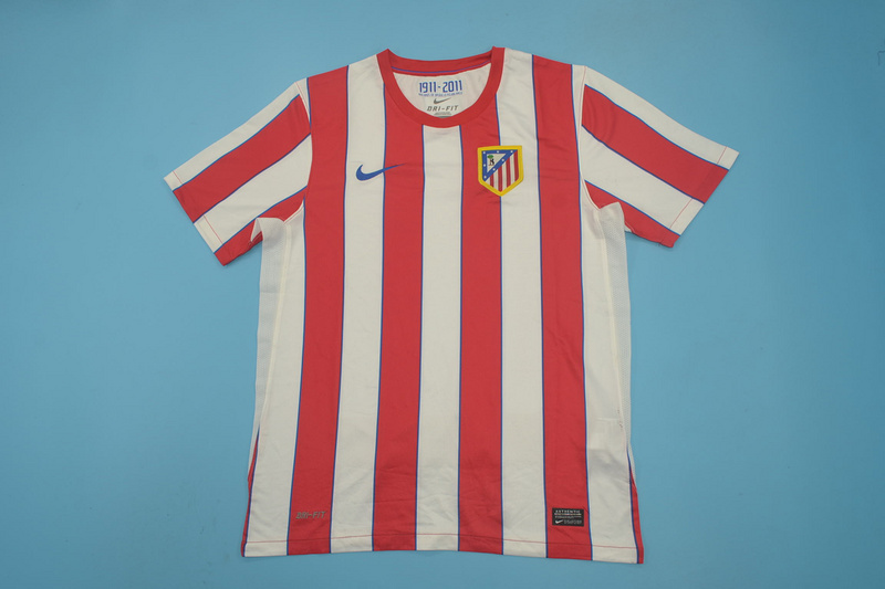 AAA Quality Atletico Madrid 11/12 Home Retro Soccer Jersey
