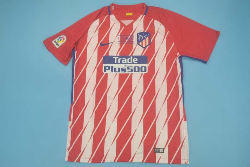 AAA Quality Atletico Madrid 17/18 Home Retro Soccer Jersey