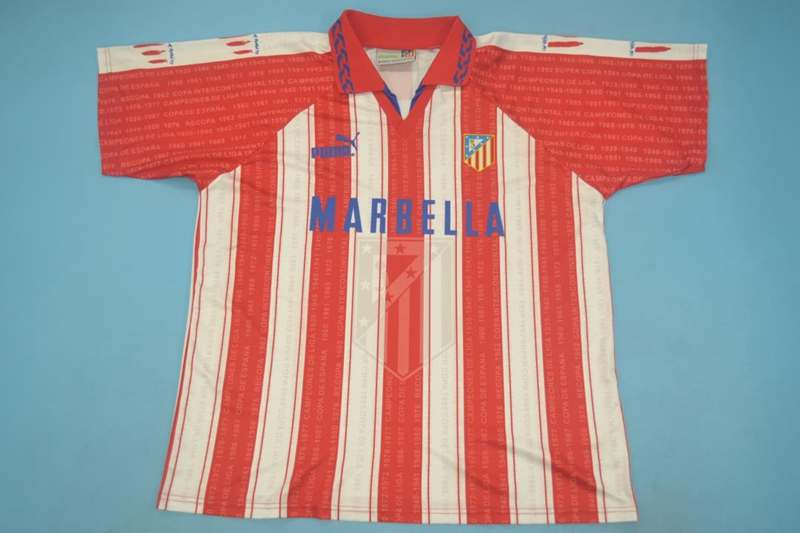 AAA Quality Atletico Madrid 95/96 Home Retro Jersey(Playe)