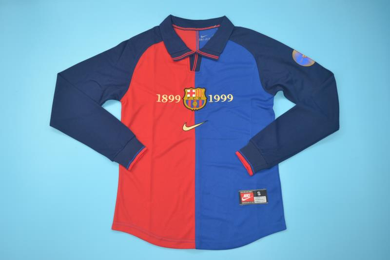 AAA Quality Barcelona 1999/2000 Home Long Retro Soccer Jersey