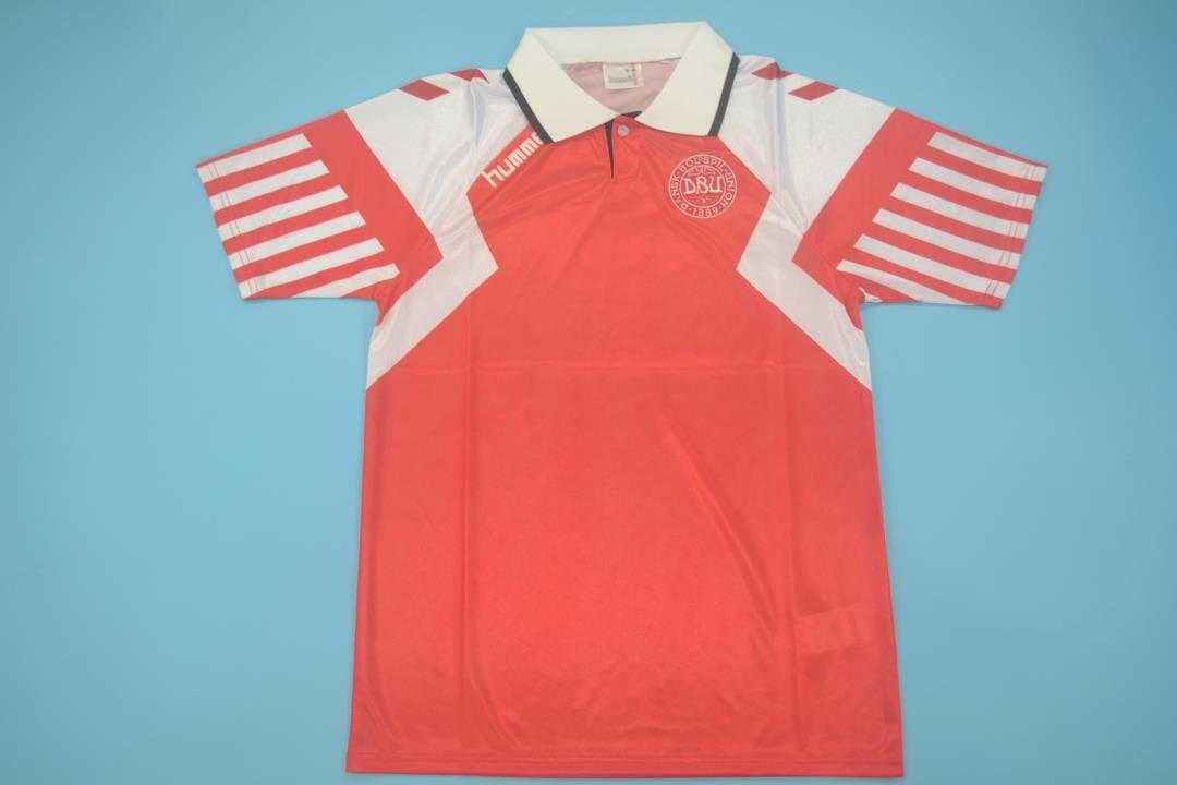 AAA Quality Denmark 1992 Home Retro Soccer Jersey