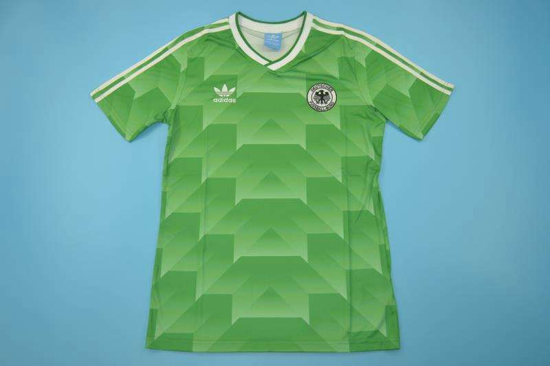 AAA Quality 1990 EURO Germany Retro Away Soccer Jersey