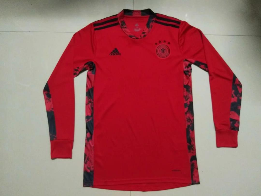 AAA Quality Germany 2020 EURO Goalkeeper Long Red Soccer Jersey