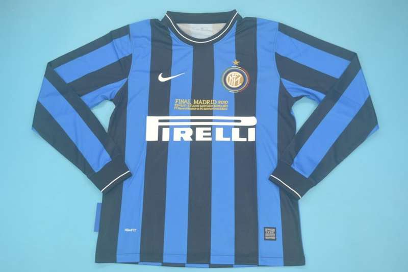 AAA Quality Inter Milan 2009/2010 Home Long Retro Soccer Jersey