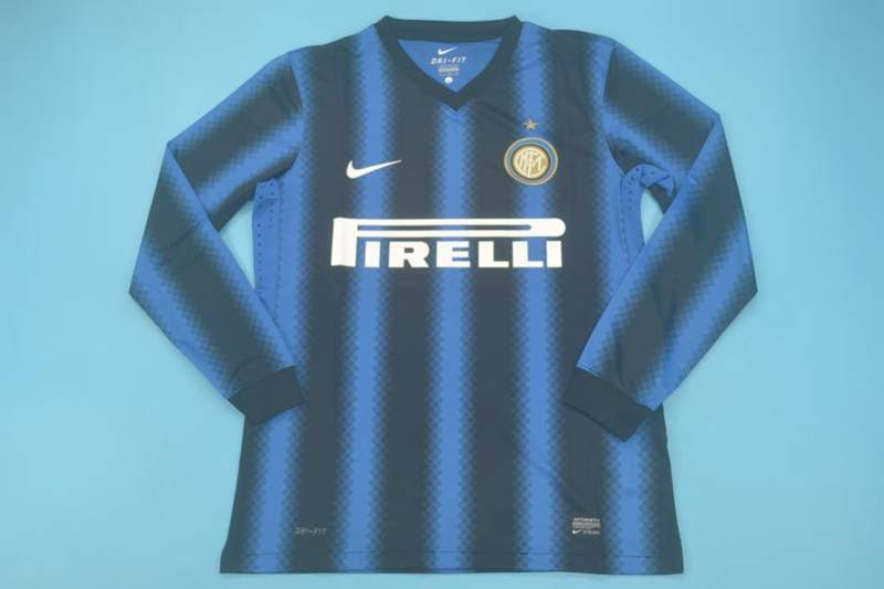 AAA Quality Inter Milan 2010/11 Home Retro Long Soccer Jersey
