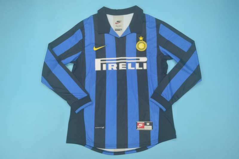 AAA Quality Inter Milan 1998/99 Home Retro Long Soccer Jersey