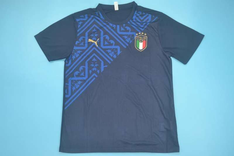 AAA Quality Italy 2020 Training Dark Blue Soccer Jersey 03