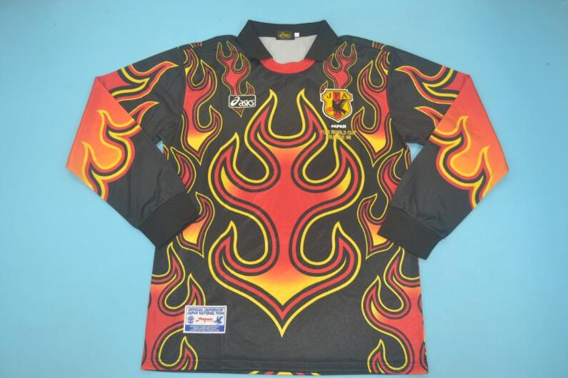 AAA Quality Japan 1998 Goalkeeper Black Long Retro Soccer Jersey