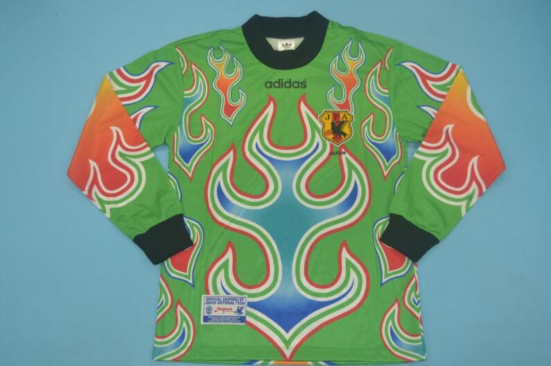 AAA Quality Japan 1998 Goalkeeper Green Long Retro Soccer Jersey