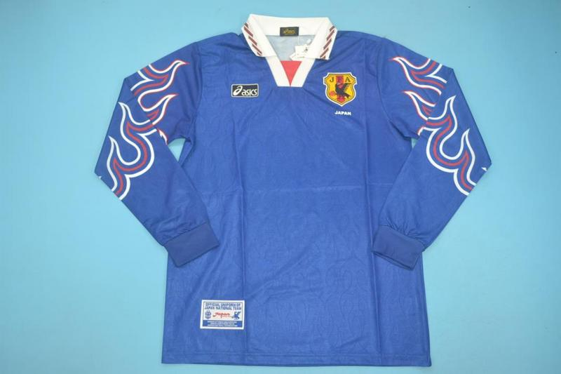 AAA Quality Japan 1998 Home Long Retro Soccer Jersey