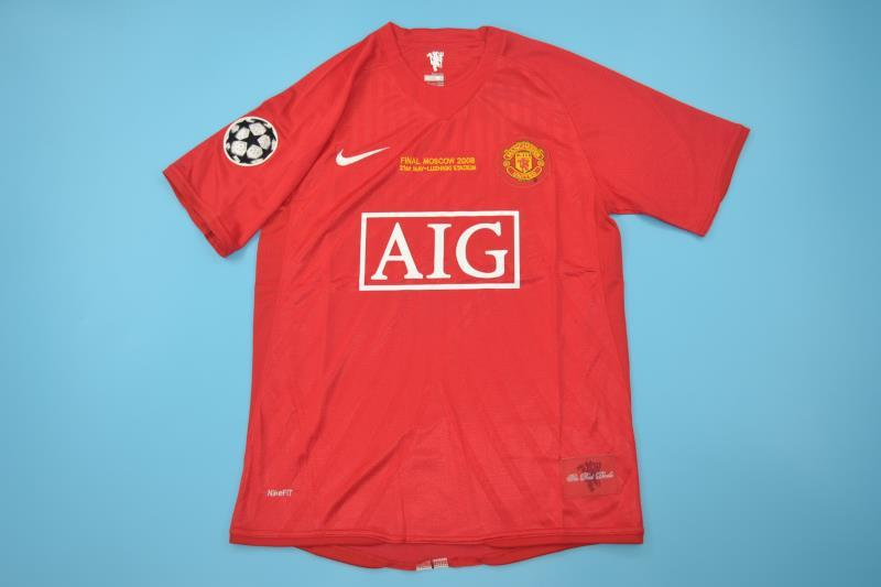 AAA Quality Manchester United 07/08 Home Final Retro Jersey