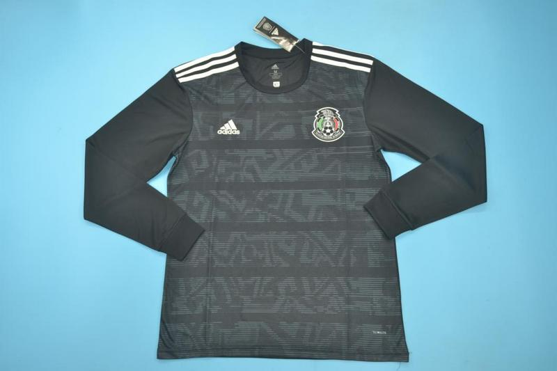 AAA Quality 2019 Mexico Away Black Long Sleeve Soccer Jersey
