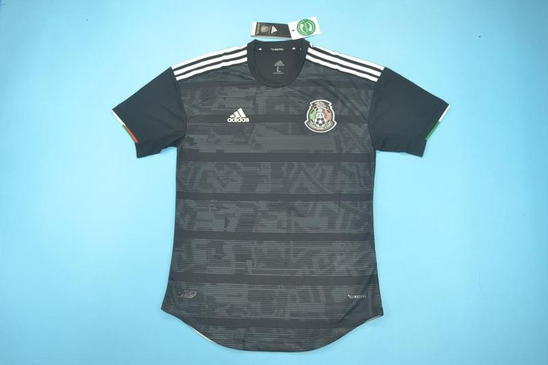 AAA Quality 2019 Mexico Away Black Soccer Jersey(Player)