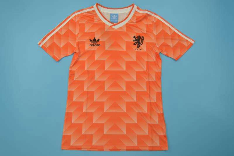 AAA Quality 1988 Netherlands Retro Home Soccer Jersey