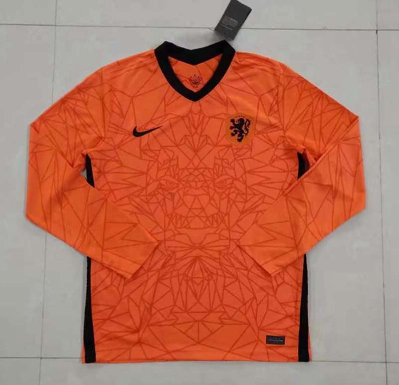 AAA Quality Netherlands 2020 Home Long Sleeve Soccer Jersey