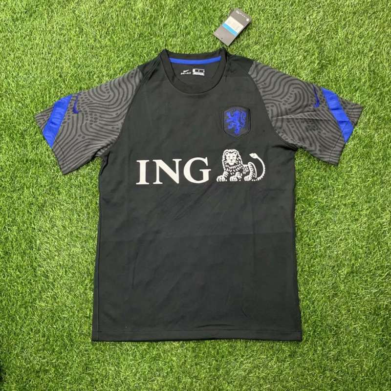 AAA Quality Netherlands 2020 Training Black Soccer Jersey