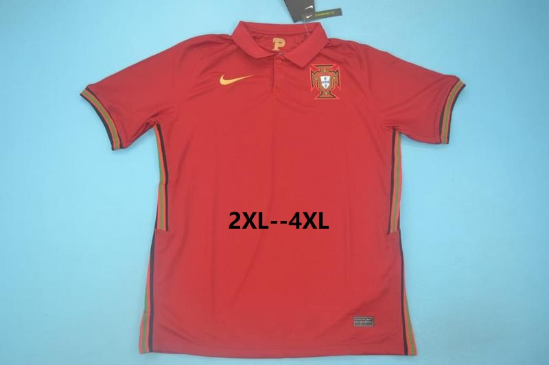 AAA Quality Portugal 2020 EURO Home Soccer Jersey(Big Size)
