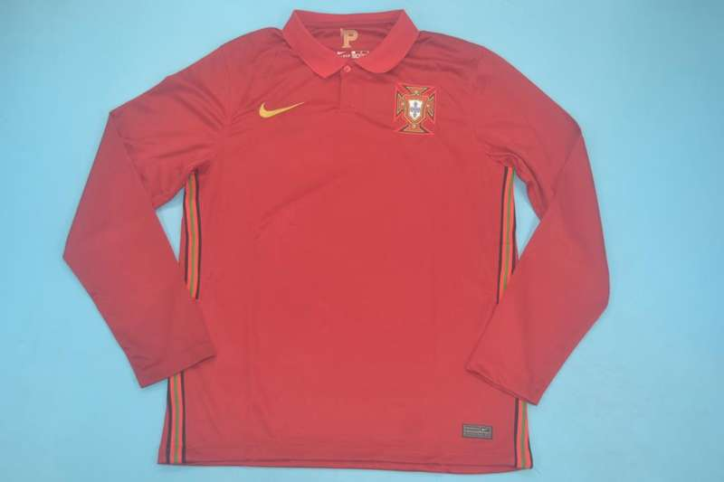 AAA Quality Portugal 2020 Home Long Sleeve Soccer Jersey