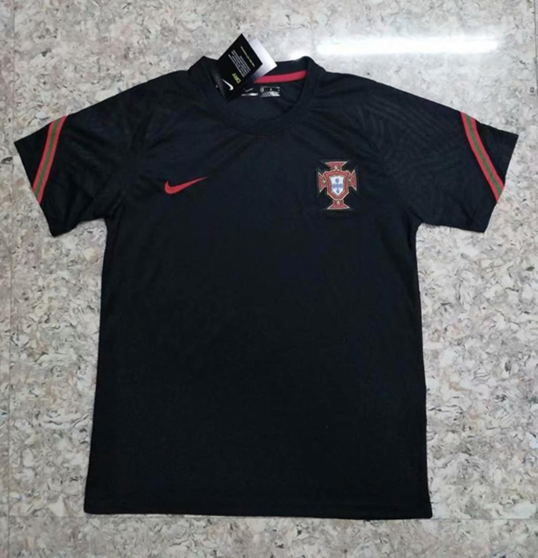 AAA Quality Portugal 2020 Training Black Soccer Jersey