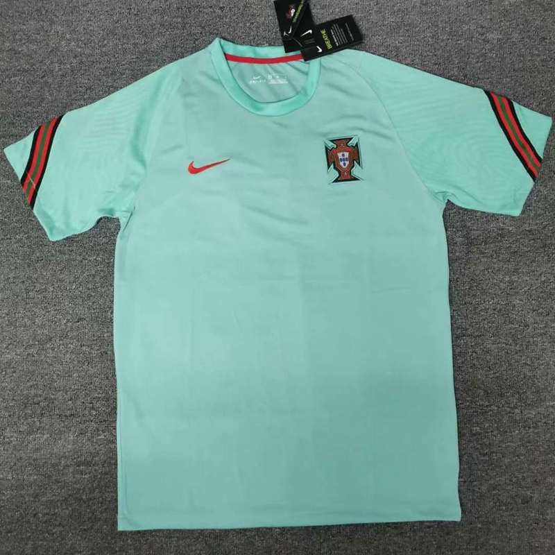 AAA Quality Portugal 2020 Training Green Soccer Jersey