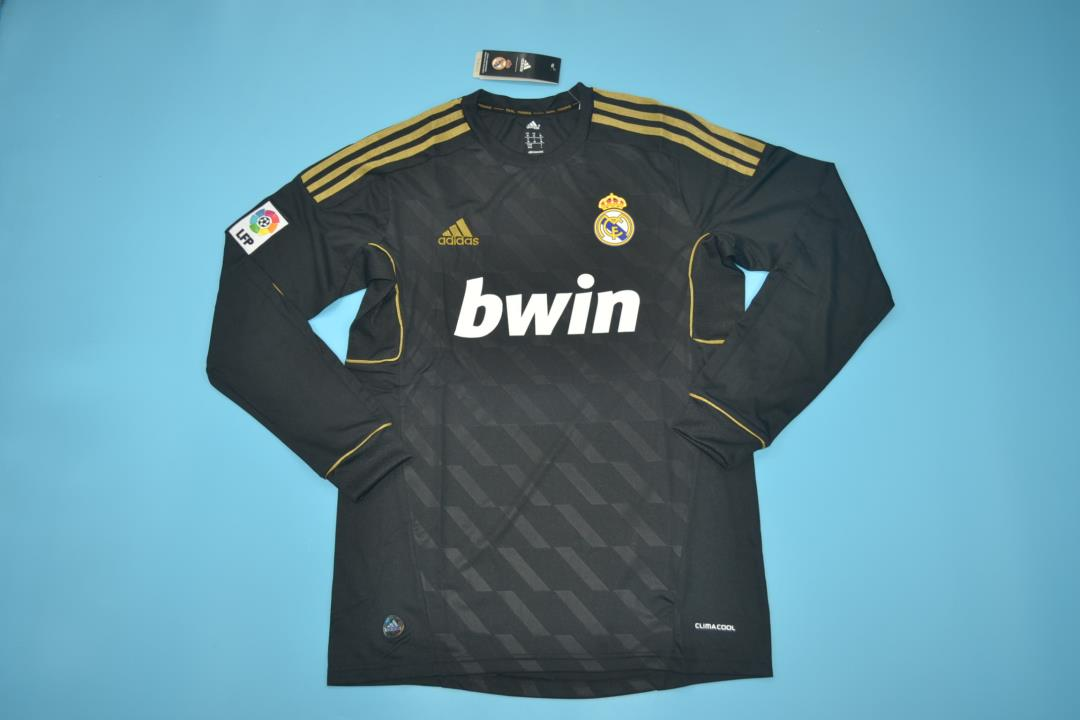 AAA Quality Real Madrid 11/12 Away Long Retro Soccer Jersey