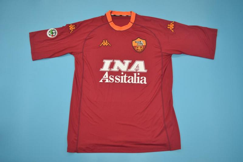AAA Quality AS Roma 2000/01 Home Retro Soccer Jersey