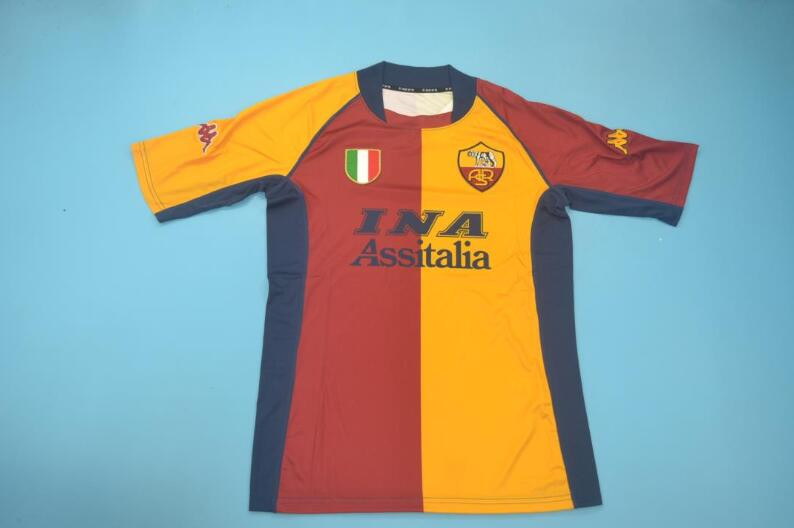 AAA Quality AS Roma 2001/02 Home Retro Soccer Jersey