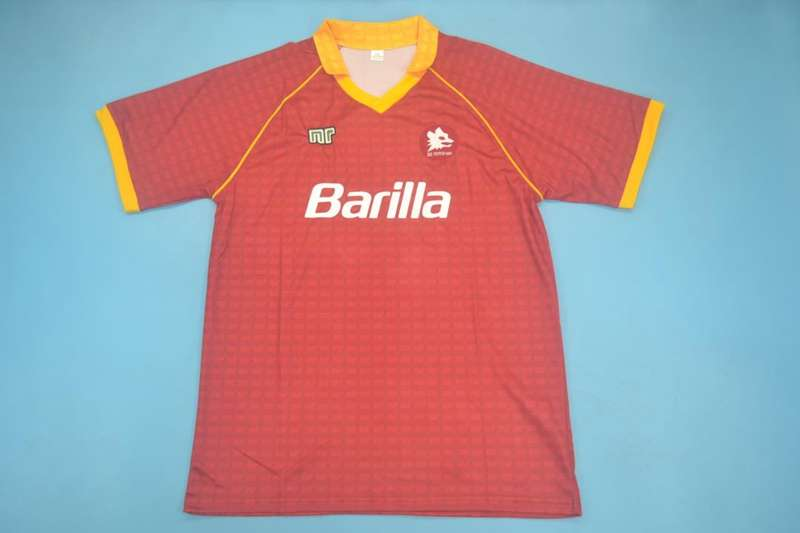 AAA Quality AS Roma 1990/91 Home Retro Soccer Jersey