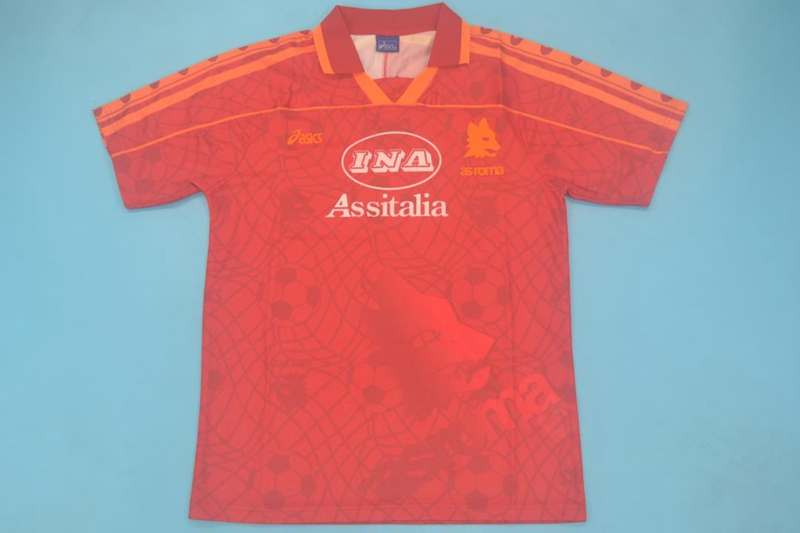 AAA Quality AS Roma 1995/96 Home Retro Soccer Jersey